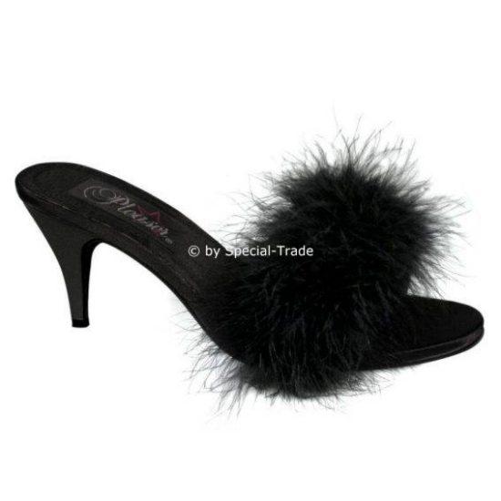 Damen-Sandale Übergrösse schwarz