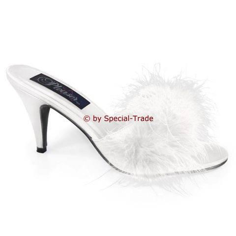 Damen-Sandale Übergrösse weiß