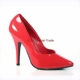 Roter Lack Pumps in �bergr�sse