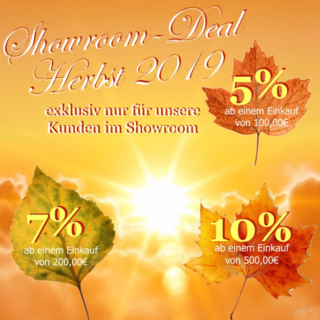 Showroom Deal o f the Week Herbst 2019